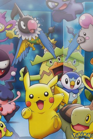Smooth and nice, cute anime art of Pikachu and his friends.
