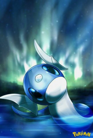 Nice and smooth, cute anime art of a water-type Pokemon.