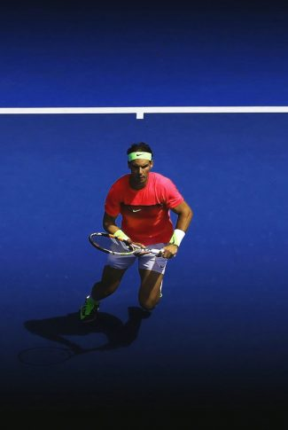 Download Rafael Nadal In Action Wallpaper Cellularnews