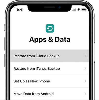 Restore Backup Screen to Downgrade iOS