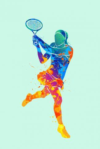 Download Colorful Tennis Art Wallpaper Cellularnews