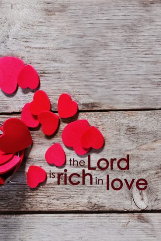 Nice and simple reminder of the Lord's great love.