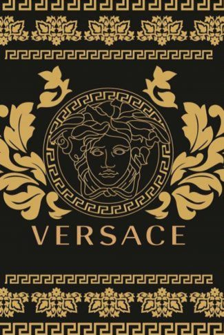 Vintage and classy,  Versace logo in black and gold.