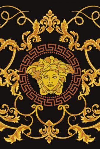 Detailed and elegant, nice Versace logo in gold and black.