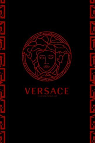 Classic and stylish, elegant Versace logo in red and black.