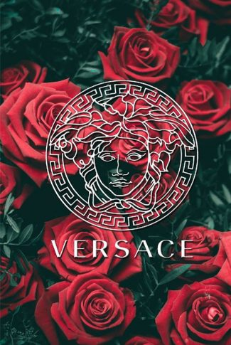 Download Versace Logo In Roses Wallpaper Cellularnews