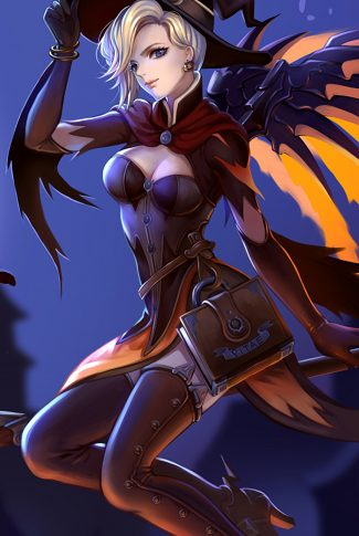 09 overwatch mercy the witch wallpaper