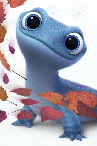 A Frozen 2 wallpaper of the cute and ever-so-adorable salamander, Bruni.