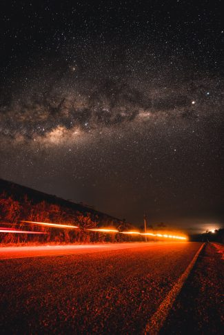 Download The Road And The Galaxy Wallpaper Cellularnews