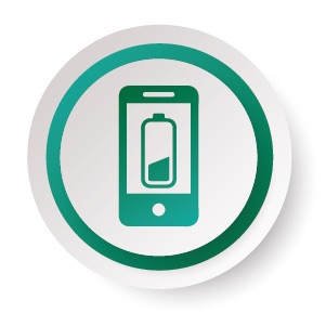 Long Battery life mobile phone icon