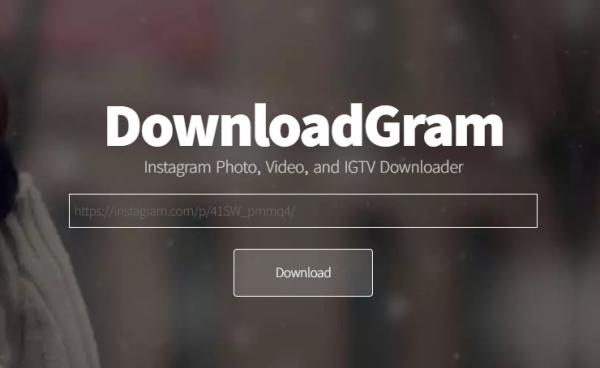 homepage of downloadgram video downloaders