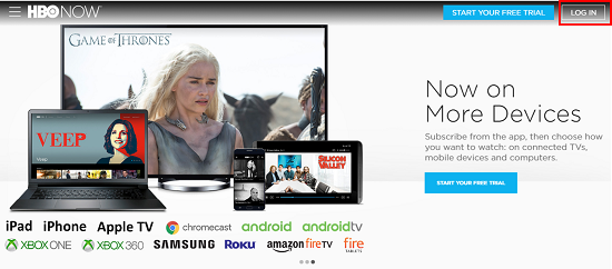 HBO Now devices