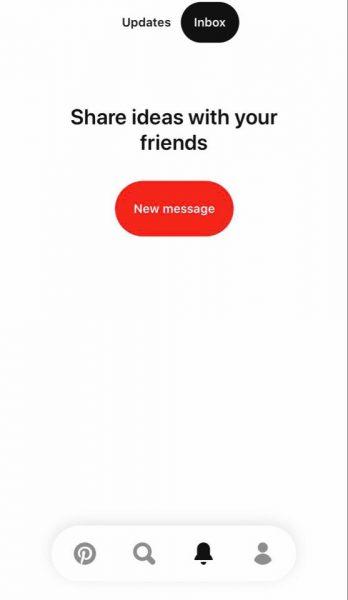 Messaging on Pinterest App