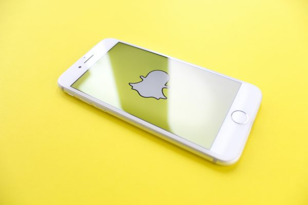 An iPhone with Snapchat logo on The Screen