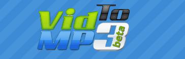 offical logo of vidtomp3.com: video downloaders