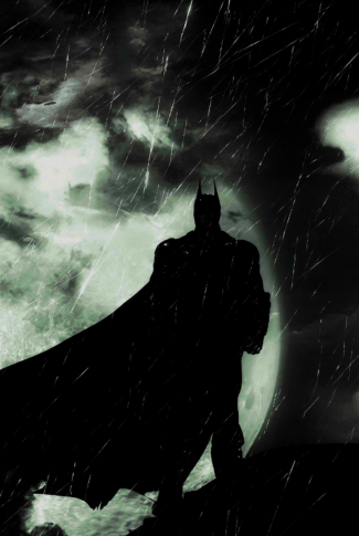 Batman at night. Trying to keep the world safe and sound.