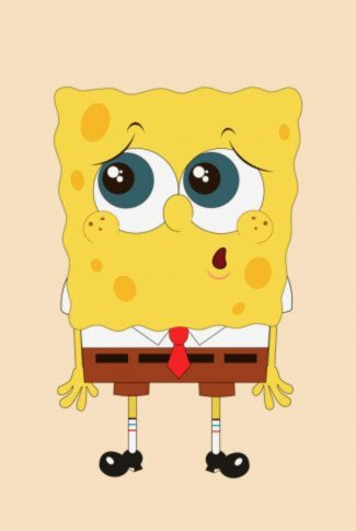 Spongebob Squarepants in a cute expression wallpaper.