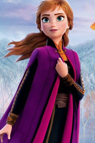 A beautiful Frozen 2 portrait wallpaper of Anna.