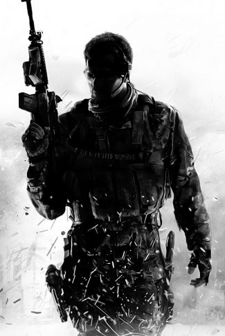 Download Call Of Duty Soldier In Black And White Wallpaper