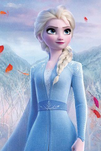A beautiful Frozen 2 portrait wallpaper of Elsa.