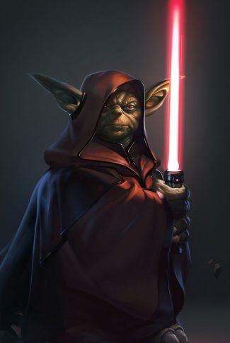 15 star wars yoda portrait