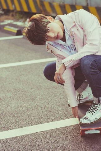 20 bts wallpaper v on a skateboard