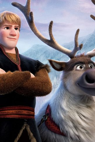A beautiful Frozen 2 portrait wallpaper of Kristoff and Sven.