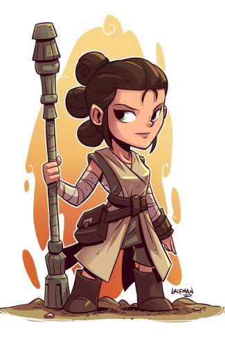 Download Star Wars A Cute Rey Artwork Wallpaper Cellularnews