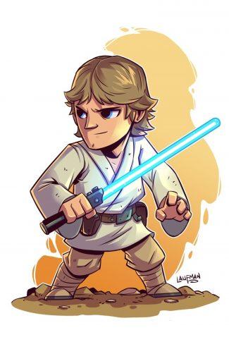 Download Star Wars A Cute Luke Skywalker Artwork Wallpaper Cellularnews