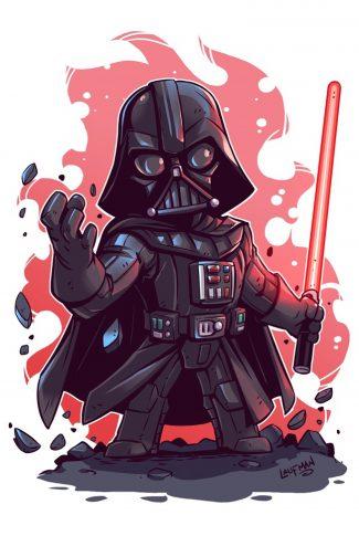 Download Star Wars A Cute Darth Vader Artwork Wallpaper Cellularnews