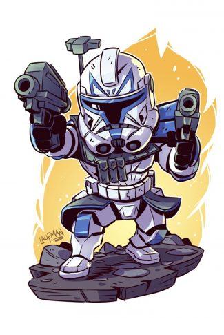 Download Star Wars A Cute Captain Rex Artwork Wallpaper Cellularnews