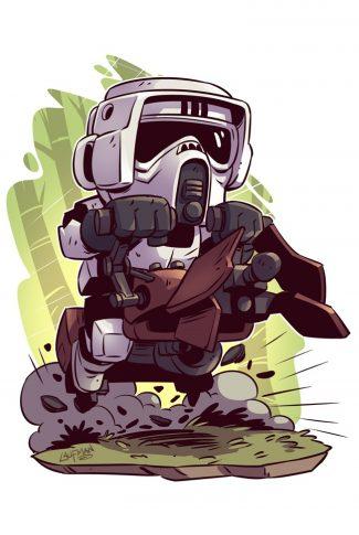 43 star wars a cute scout trooper artwork