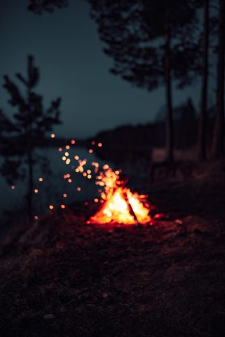 A beautiful wallpaper of a bonfire photographed with a blur.