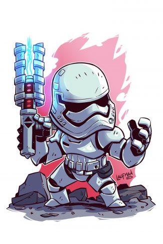 Download Star Wars A Cute Stormtrooper Artwork Wallpaper Cellularnews