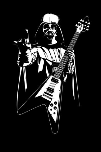 Download Star Wars Guitarist Darth Vader Artwork Wallpaper Cellularnews