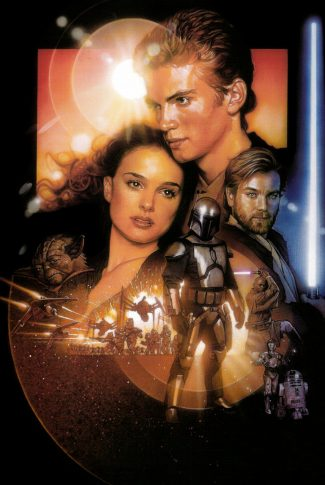 92 star wars attack of the clones poster