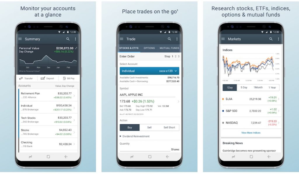 CharlesSchwab investment app