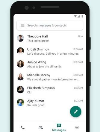 Google voices on messages