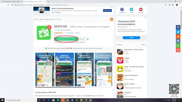 How to Download Maps.Me APK Step 3