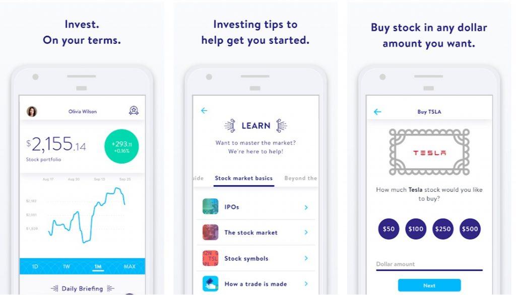 StockPile online investment trading app on mobile