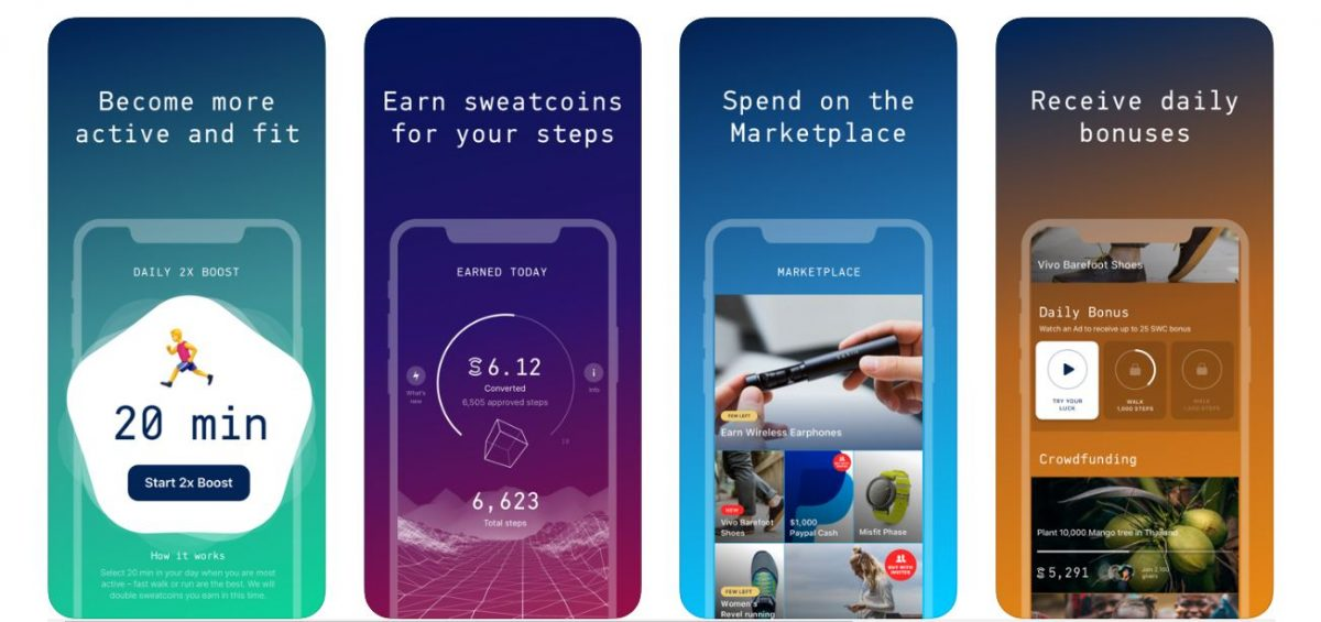 Sweatcoin Walking Step Counter money making apps