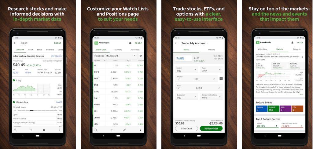 TD Ameritrade mobile trading apps