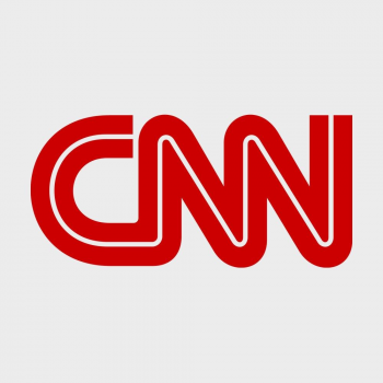 CNN News official logo color gray and red