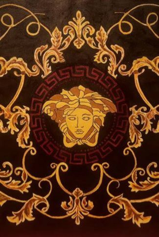 Stunning, and beautiful Versace logo in brown and gold color.