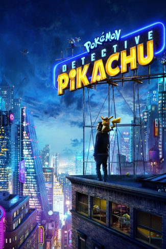 The official Pokemon Detective Pikachu movie poster wallpaper.