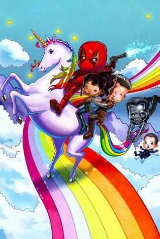 Download Deadpool 2 With The Rainbow And Unicorn Wallpaper Cellularnews