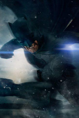 A cool Batman v Superman wallpaper of Batman in the middle of a battle.