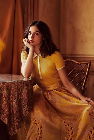 Download Ana De Armas Elegant In Yellow Wallpaper Cellularnews