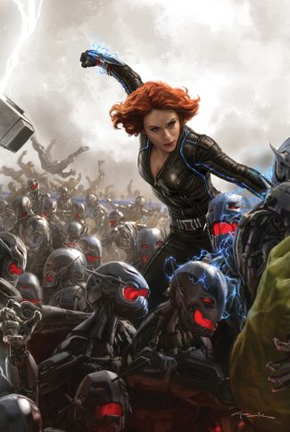 Download Avengers Age Of Ultron Artwork Black Widow Vs Ultron Sentinels Wallpaper Cellularnews
