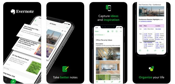 Evernote Time management apps
